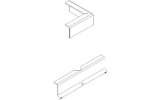 Aluminium verbindingsprofiel voor dakrand