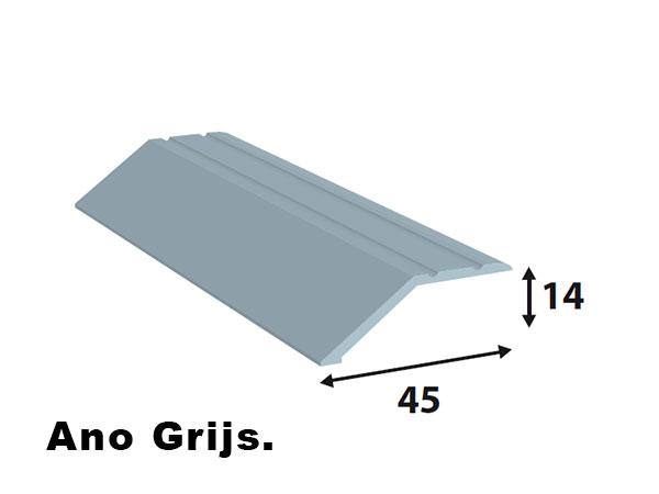 Alu afdeklijst 45*14 Ano grijs L= 2700 mm zelfklevend