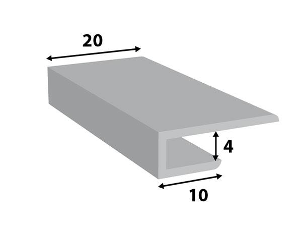 Alu. paneel-profiel 20*4
