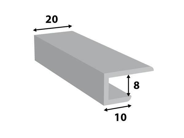 Alu. paneel-profiel 20*8