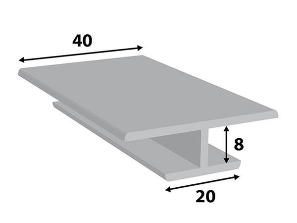 Alu. paneel-profiel 40*8