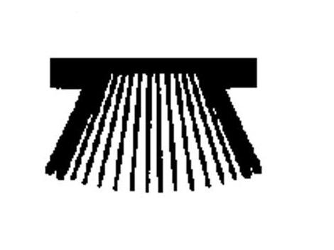 Stofborstel voor alu rail 30.7*15 artikel: 13742-d