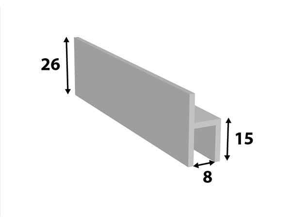 Alu. stoeltjes-profiel 26*15*8