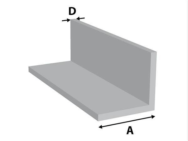 Aluminium Hoekprofiel gelijkz.