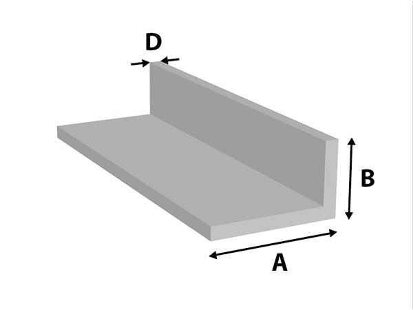 Aluminium Hoekprofiel ongelijkz.