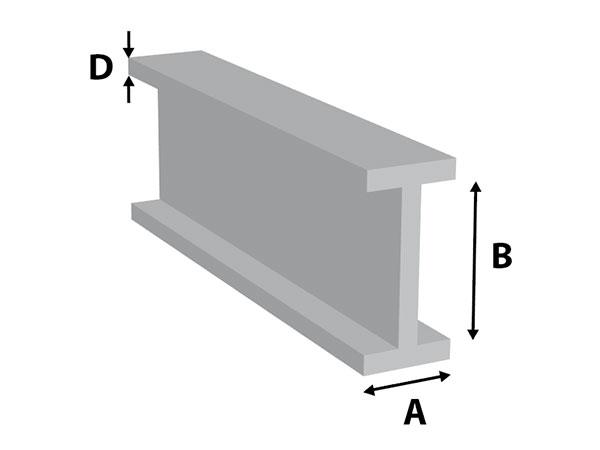 Aluminium I-profiel