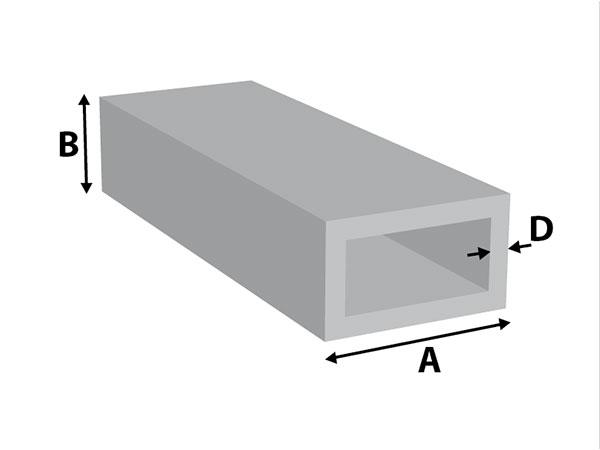 Aluminium Rechthoek koker