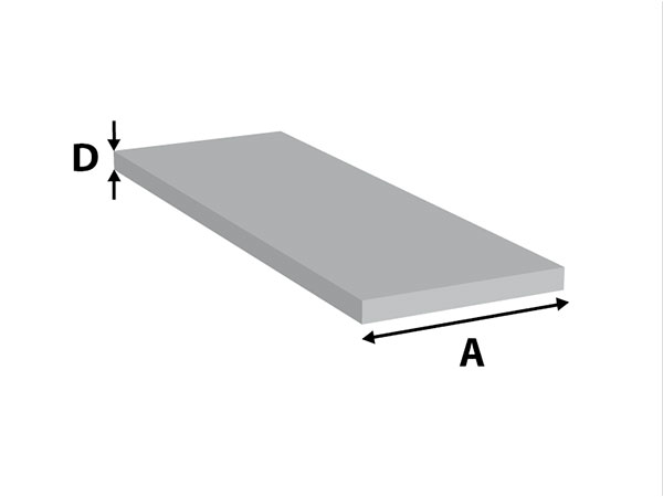 Aluminium Platstaf