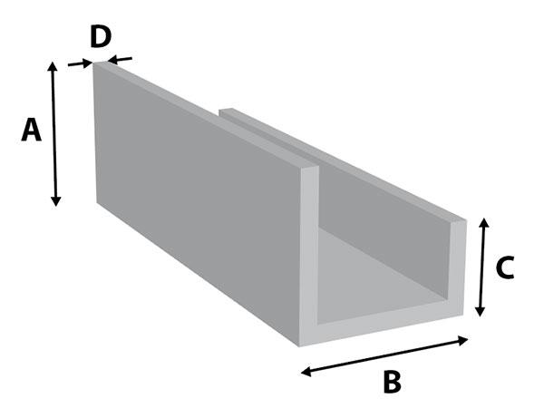 aluminium u profiel gelijkz zirkzee profiel en plaat bv. Black Bedroom Furniture Sets. Home Design Ideas