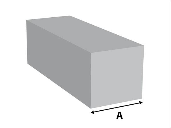 Aluminium Vierkantstaf