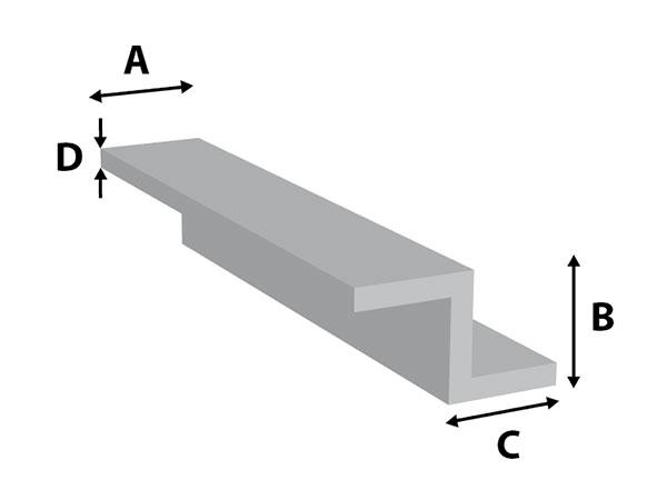 Aluminium Z--profiel