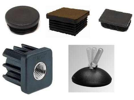 Inslagdoppen kunststof zwart