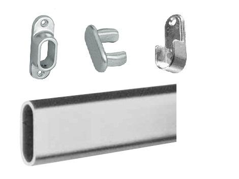 Aluminium Ovale buis(garderobe systeem)