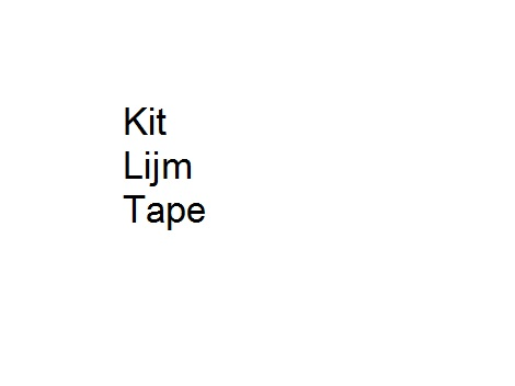 Kit lijm tape