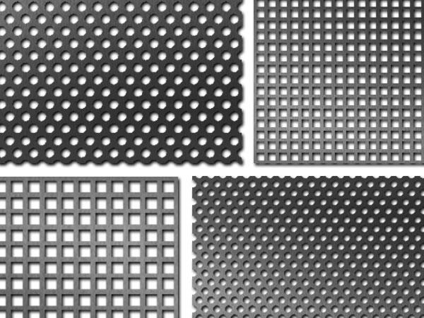 Aluminium perfo platen