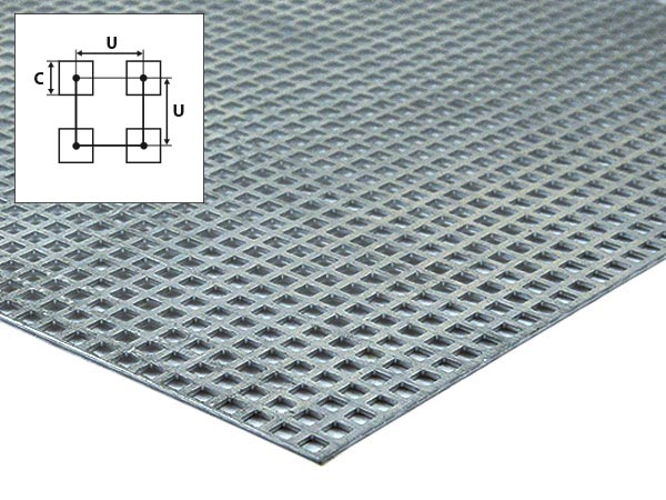 Aluminium Perfoplaat vierkant